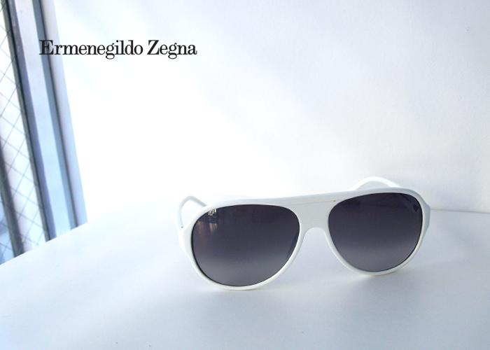 Ermenegildo Zegna エルメネジルド ゼニア SZ3565G White サングラス ホワイト