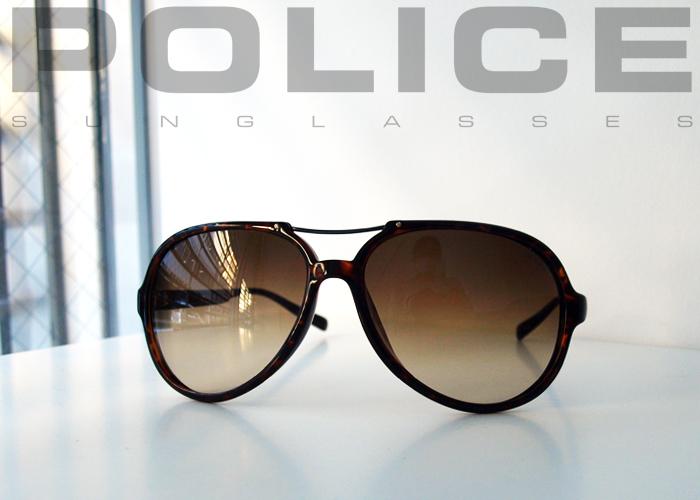 POLICE ポリス S1655G Demi サングラス ブラウン