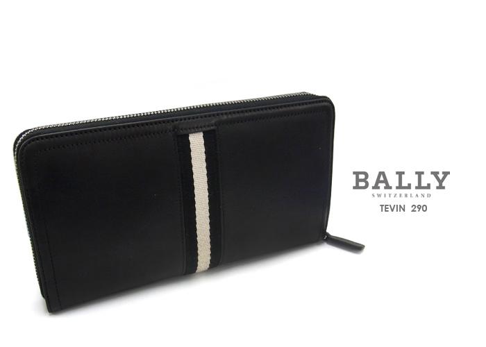 BALLY バリー TEVIN ラウンドファスナー長財布 290/ブラック