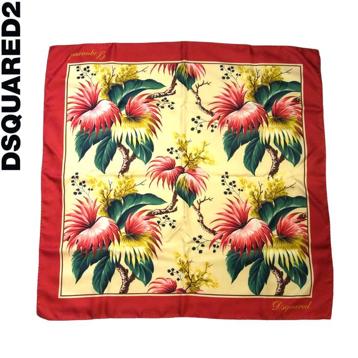 DSQUARED2 ディースクエアード 花柄プリント シルクスカーフ 001/マルチカラー