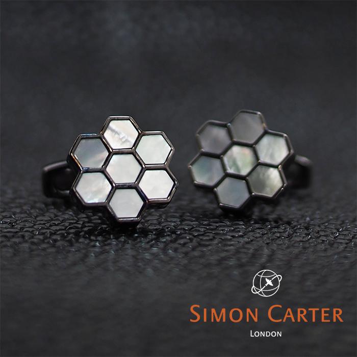 SIMON CARTER サイモンカーター カフス HONEY カフリンクス カフスボタン HONEY COMB 蜂の巣 ホワイト×ガンメタ カフス WHITE MOP 蜂の巣 ハチの巣 サイモンカーター カフス, オノガミムラ:42536764 --- officewill.xsrv.jp