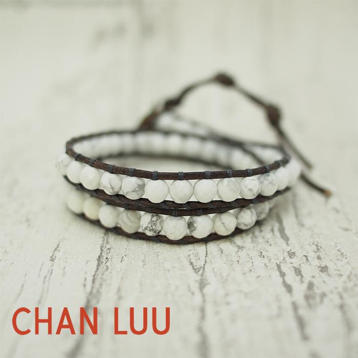 CHAN LUU チャンルー メンズ 2ラップブレス ブレスレット 2WRAP BRACELET BSM-1194 セミプレシャスストーン ホワイト 2連 チャンルー ブレスレット メンズ