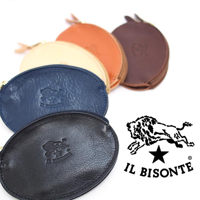 IL BISONTE イルビゾンテ レザーコインケース 小銭入れ C0889P 全5色 ダブルコインケース イルビゾンテ 財布