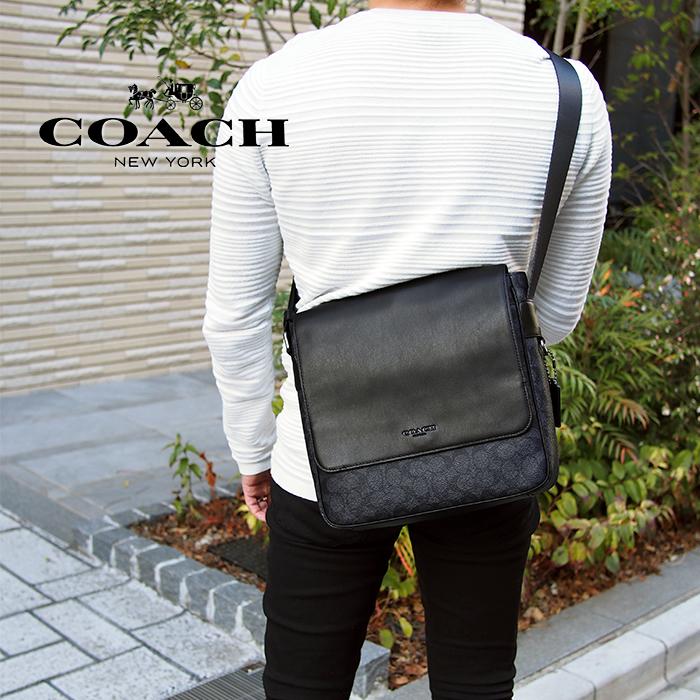 COACH コーチ 32223 ショルダーバッグ メトロポリタン マップ バッグ シグネチャー キャンバス QB/CHR コーチ バッグ コーチ メンズ