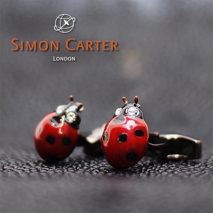 SIMON CARTER サイモンカーター カフス カフリンクス カフスボタン ENAMELLED LADYBIRD/レッド 天道虫 てんとう虫 サイモンカーター カフス カフスボタン メンズ