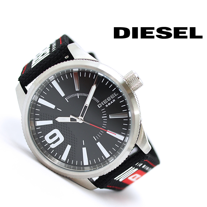 DIESEL ディーゼル メンズ腕時計 46mm ブラック DZ1906 RASP NSBB ディーゼル 時計 メンズ