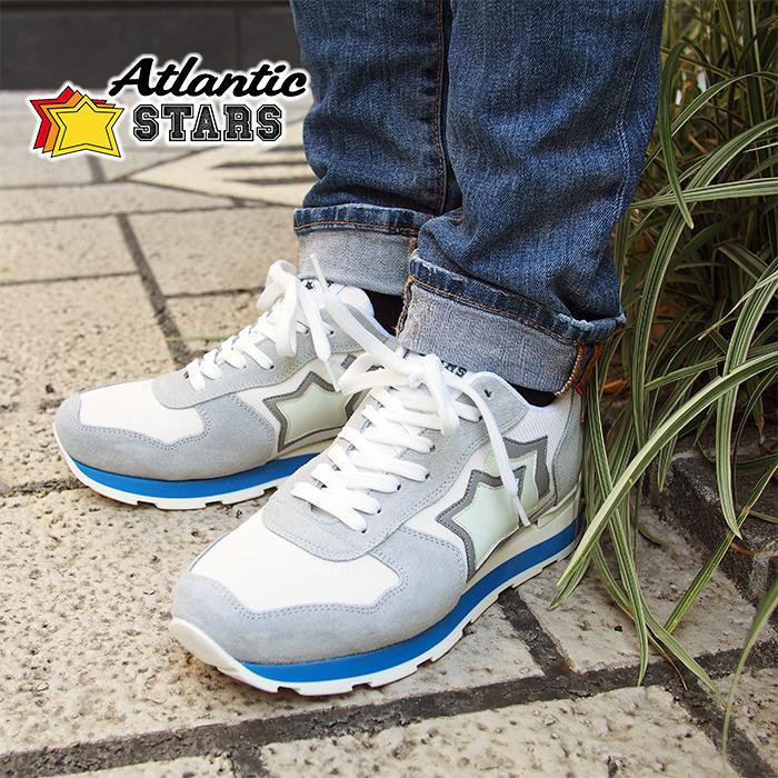 Atlantic STARS アトランティックスターズ メンズ スニーカー ANTARES BAB-34B ホワイト×グレー ANTARES アンタレス アトランティックスターズ メンズ