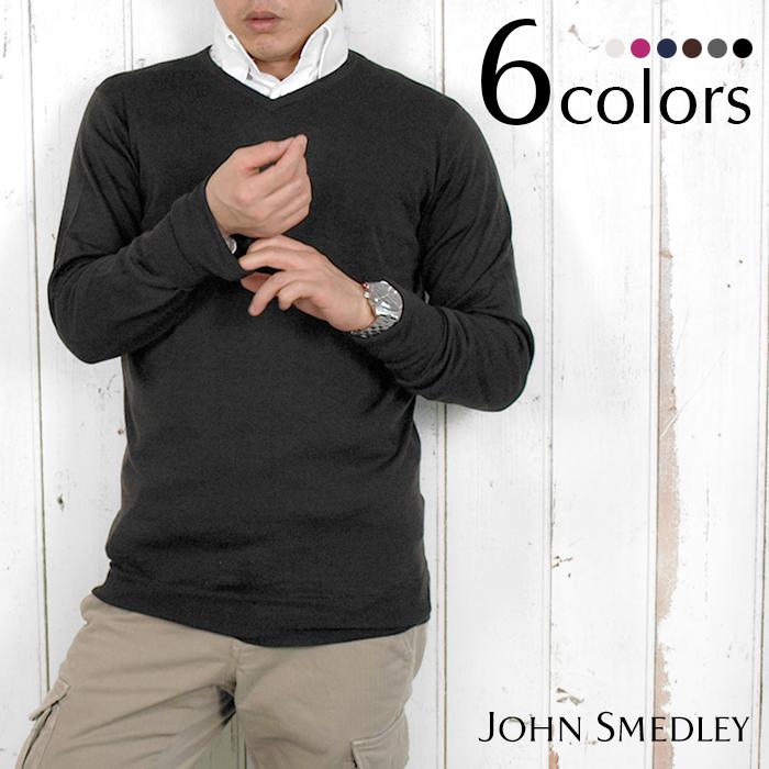 JOHN 全7色 SMEDLEY ジョンスメドレー BOWER SMEDLEY メンズVネックニット JOHN 全7色, LG生活健康海外直営店:b14fdc15 --- officewill.xsrv.jp
