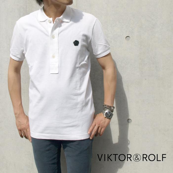 VIKTOR&ROLF ヴィクター&ロルフ 010/ホワイト VIKTOR&ROLF GC0106 ポロシャツ GC0106 半袖ポロシャツ 010/ホワイト, 海津郡:64d12eeb --- officewill.xsrv.jp