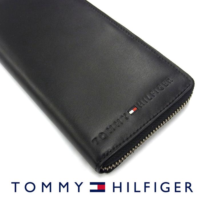 TOMMY HILFIGER トミーヒルフィガー 31TL13X015 ラウンドファスナー長財布 BLACK/ブラック トミーヒルフィガー 財布