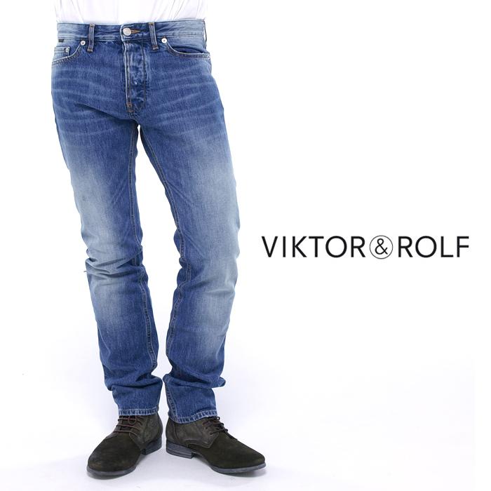 VIKTOR&ROLF ヴィクター&ロルフ LA0023 ウォッシュ加工デニム ジーンズ 089/ウォッシュブルー