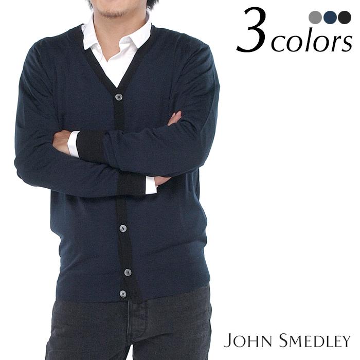 JOHN SMEDLEY ジョンスメドレー LINCOLN メンズカーディガン 全3色
