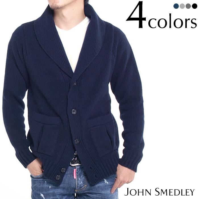 JOHN SMEDLEY ジョンスメドレー DOVER カシミア混ウール ショールカラーカーディガン メンズカーディガン 全4色