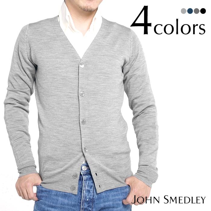 JOHN SMEDLEY ジョンスメドレー SANDOWN メンズカーディガン 全4色