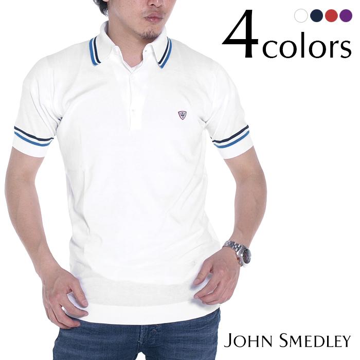 JOHN SMEDLEY ジョンスメドレー CAMBOURNE スリムフィット 半袖ポロシャツ 全4色 ポロシャツ メンズ