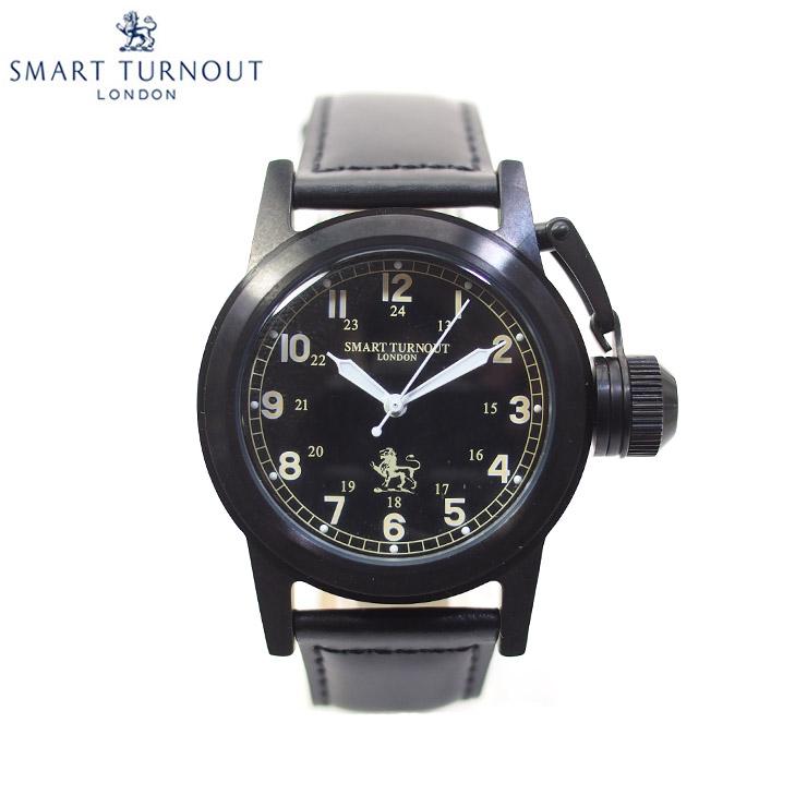 SMART TURNOUT スマートターンアウト STJ003BKBK-AH20 メンズ ウォッチ 腕時計 時計 ブラック クオーツ 替えベルト付き