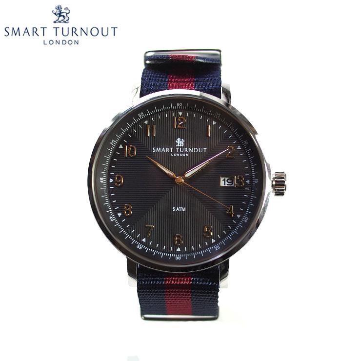 SMART TURNOUT スマートターンアウト STH3 BK-HD メンズ ウォッチ 腕時計 時計 ブラック クオーツ ナイロンベルト