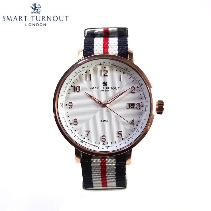 SMART TURNOUT スマートターンアウト STH3 WH-YH SMART メンズ メンズ STH3 ウォッチ 腕時計 時計 ホワイト クオーツ ナイロンベルト, カワゴエチョウ:330e2007 --- officewill.xsrv.jp