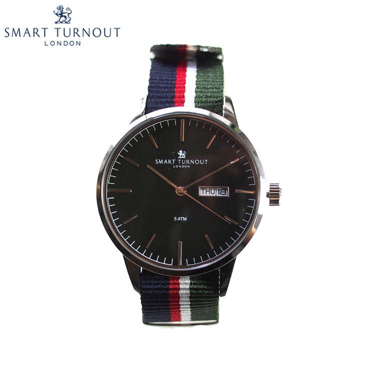 SMART TURNOUT スマートターンアウト STH4 GR-AH メンズ ウォッチ 腕時計 時計 ダークグリーン クオーツ ナイロンベルト