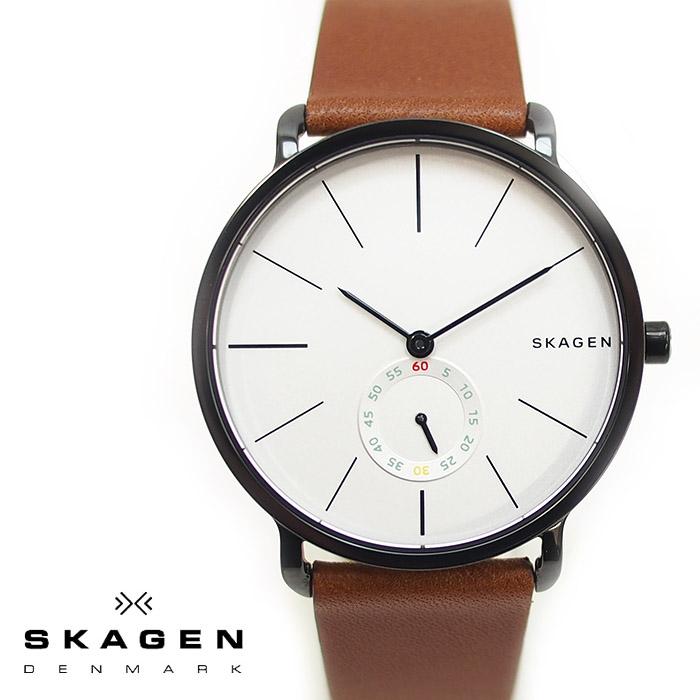 SKAGEN スカーゲン メンズ腕時計 40mm HAGEN ハーゲン ホワイト×ブラウン SKW6216 スカーゲン 腕時計 メンズ