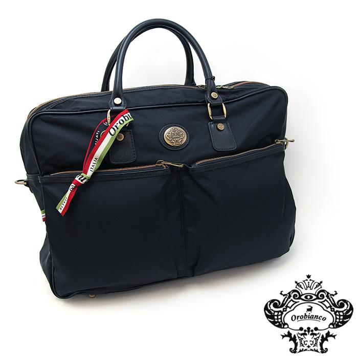 OROBIANCO オロビアンコ DOTTRINA ブリーフケース ビジネスバッグ ブラック×ブラック オロビアンコ ブリーフケース