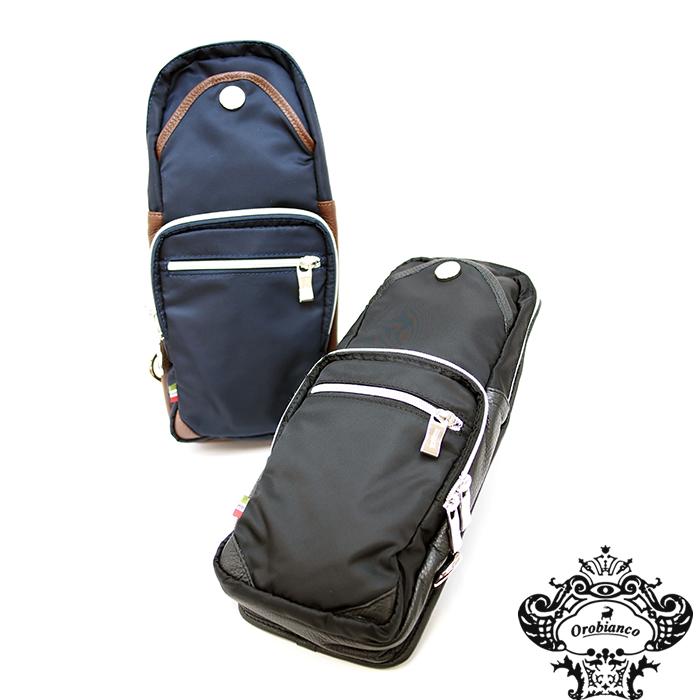 OROBIANCO オロビアンコ GIACOMIO ジャコミオ ボディバッグ レザー×ナイロン 全2色 ショルダーバッグ ボディーバッグ オロビアンコ ボディバッグ