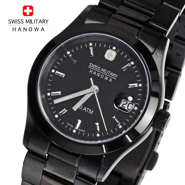 【送料無料】SWISS MILITARY スイスミリタリー腕時計メンズ エレガントブラックML-132