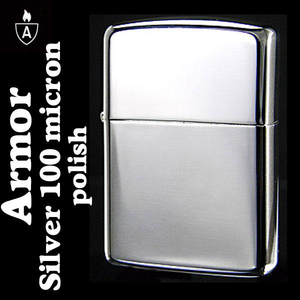 ZIPPO ジッポ ジッポ ライター zippo アーマー シルバー100ミクロン 鏡面仕上げ ジッポー ジッポーライター ARMOR lighter