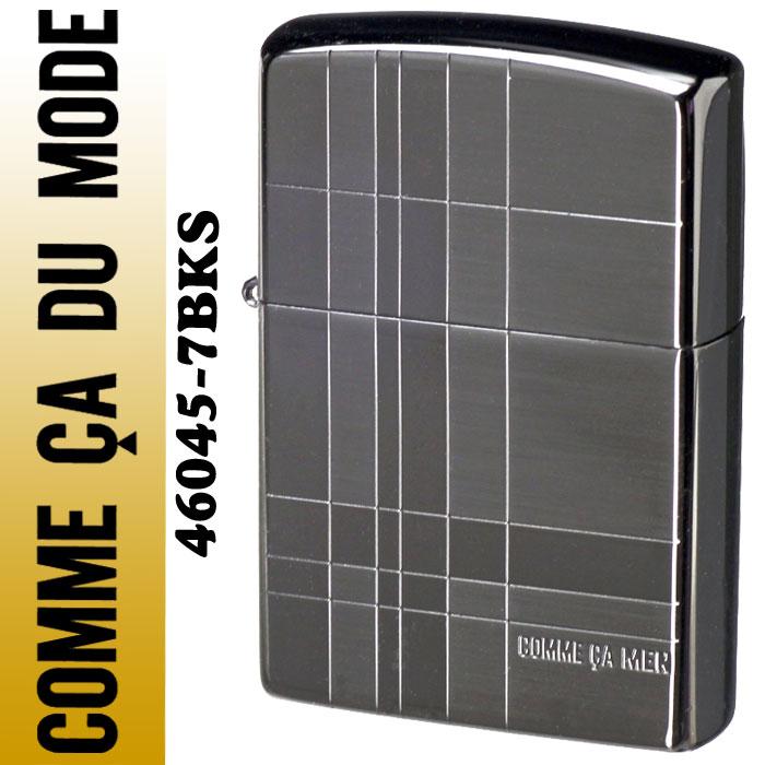 【送料無料】 zippo(ジッポーライター)COMME CA MEN コムサメン ジッポ ブラック コムサ 46045-7BKS