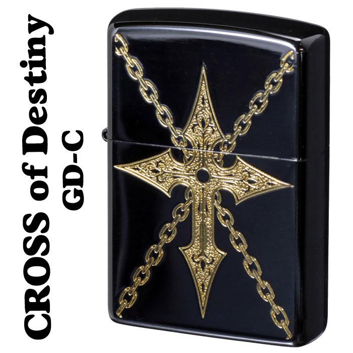 (キャッシュレス5%還元)zippo(ジッポーライター)クロスオブデスティニー チェーン GD-C
