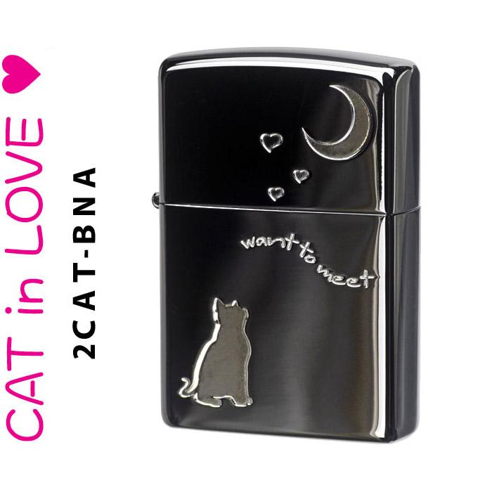 (キャッシュレス5%還元)zippo ジッポーライター 猫 ブラックニッケル(A) zippoライター ジッポライター ジッポー ジッポ 【ネコポス対応】