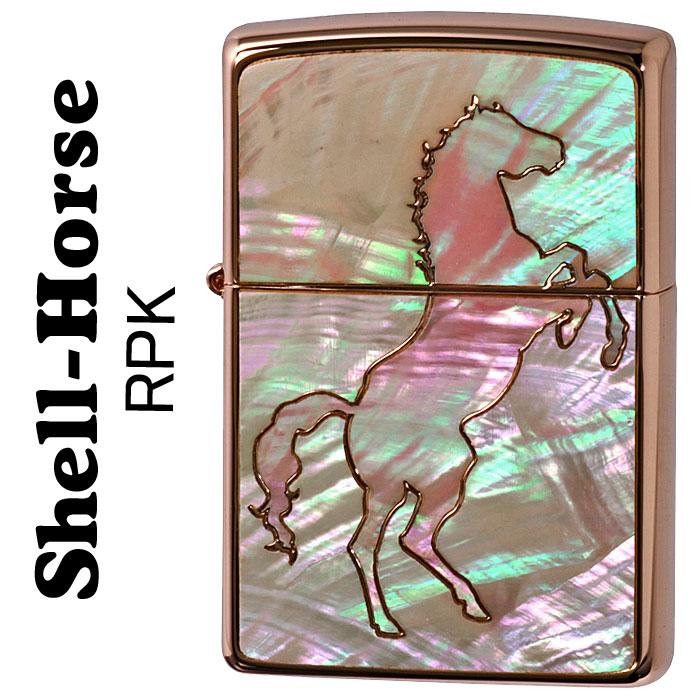 (キャッシュレス5%還元)zippo ライター ジッポーライター シェル・ホース人気の貝貼り 跳馬 RPK