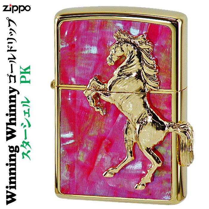 zippo (ジッポーライター) ウィンニングウィニー スターシェル ゴールドリップ PK 送料無料