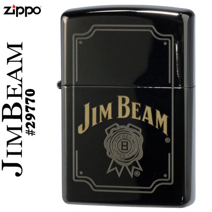 (キャッシュレス5%還元)zippo ライター (ジッポーライター) JIM BEAM(ジムビ-ム) ブラックアイス#29770 ジッポ【ネコポス対応】