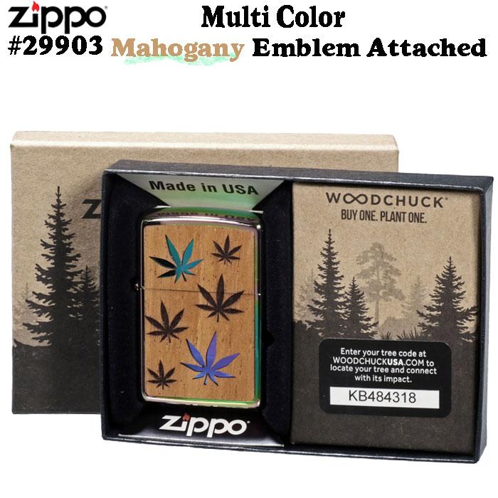 (キャッシュレス5%還元)zippo ライター ジッポ (ジッポーライター) Multi Color Mahogany Emblem Attached #29903