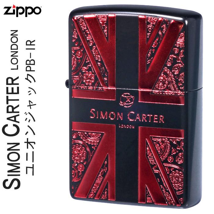 ZIPPO ジッポー ジッポ ライター SIMON CARTER サイモンカーターユニオンジャックPB-IR zippoSCP-040[送料無料]