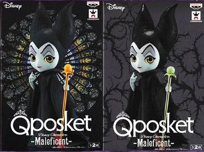 All two kinds of Q posket Disney Characters -Maleficent- Maleficent normal  color rare color set figure skating