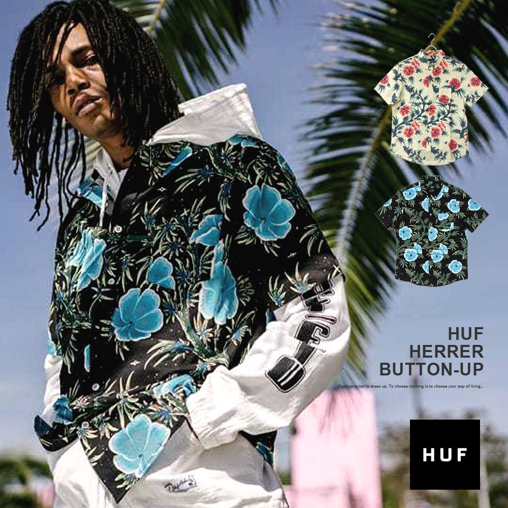 【メール便送料無料】 シャツ メンズ HUF HERRER BUTTON-UP