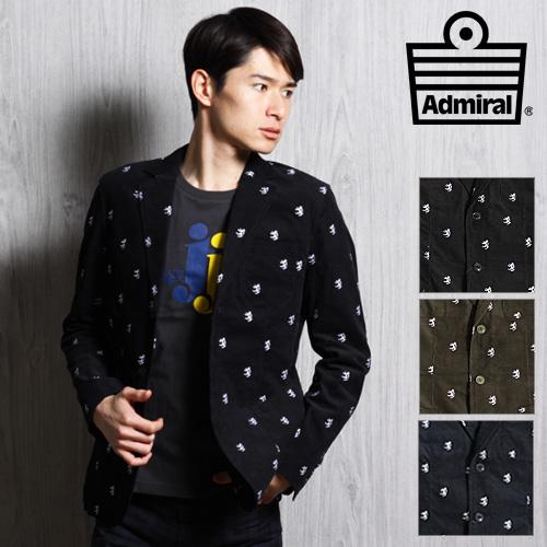 [SALE] Admiral/アドミラル EMBコーデュロイジャケット ACMA353[メンズ コート ジャケット おしゃれ かっこいい 紳士 秋服 秋物 秋 冬服 冬物 冬 大人 彼氏 プレゼント]◆30%~49%