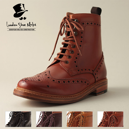 London Shoe Make/ロンドンシューメイク カントリーブーツ LSM602 2016ss[メンズ 靴 ブーツ 革 革靴 おしゃれ かっこいい 紳士 秋服 秋物 秋 冬服 冬物 冬 大人 彼氏 プレゼント]