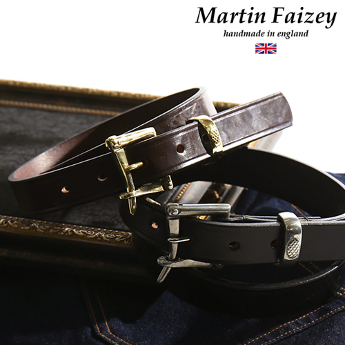 MARTIN FAIZEY/ マーティンフェイジー 1 inch quick release belt [men belt brei dollar  leather leather belt leather cowhide handmade firefighter fashion cool