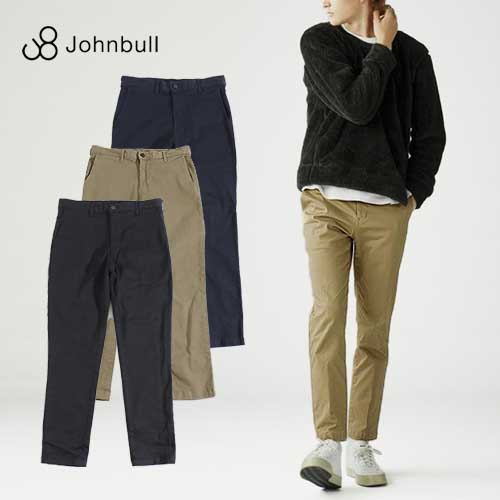 Johnbull/ジョンブル Flex Chino Trousers フレックスチノトラウザー 21238[メンズ ズボン パンツ ウエストゴム テーパード クロップド 綿 フレックスリラックス ストレッチ スリム 上品 キレイ おしゃれ かっこいい 紳士 オールシーズン 通年 オフィスカジュアル]