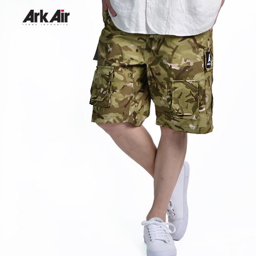 Ark Air/アークエアー COMBAT SHORT ショートカーゴパンツ カモフラPRINT C337AG VISTA TROPICAL[メンズ ズボン パンツ 英国 イギリス 英国製 ミリタリー SAS ミルスペック フェス 短パン 海 レジャー キャンプ SAFARI 快適 楽チン リラックス 紳士 夏 大人]
