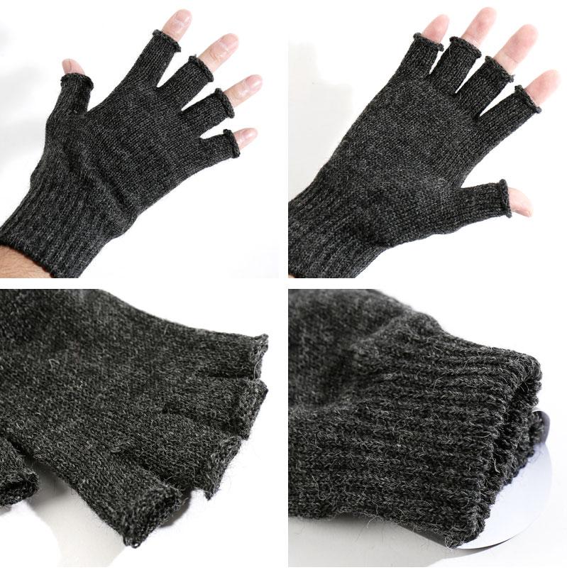 b6cbc2ee8 ... BLACK SHEEP/ black sheep 18 fingerless knit glove Fingerless Mit FMITT  [men knit gloves ...