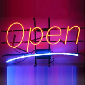 送料無料!!Openオープンネオンサインラインビッグ 全2色!!(レッドブルー、ブルーレッド)♠ ジャックポット湘南