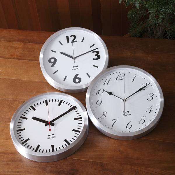イデア idea BRUNO ブルーノ ウォールクロック アルミフレーム bcw005 時計 掛け時計 壁時計 デザイン 特売 壁かけ かけ時計 年中無休 インテリア プレゼント デザイン家電 アナログ