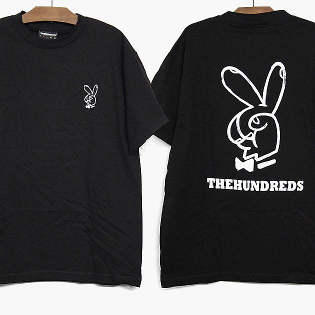 THE HUNDREDS 2018春夏 新作 半袖 Tシャツ ザハンドレッズ PEACE SIGN S 期間限定今なら送料無料 黒 ブラック TEE プリント プレゼント T18S101037 トップス ティーシャツ 日本 ピースサイン