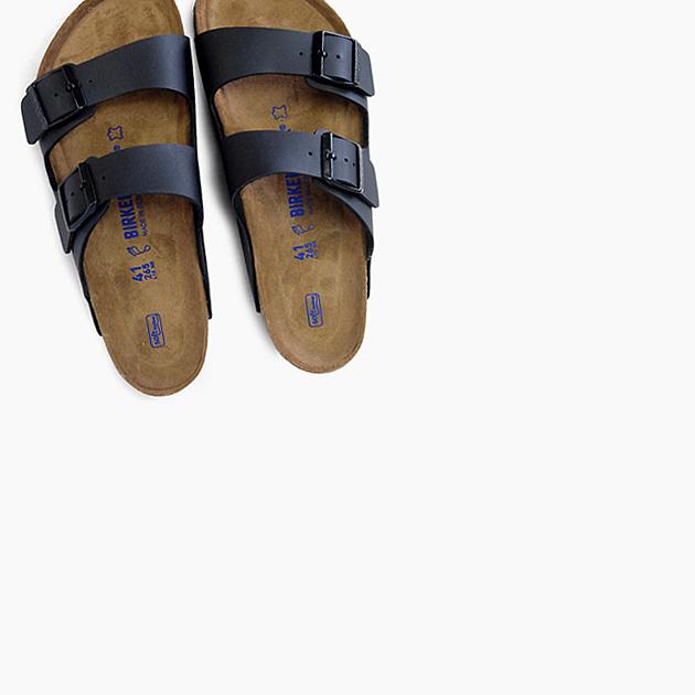 ビルケンシュトック アリゾナ ソフトフットベッド BIRKENSTOCK ARIZONA SOFT FOOTBED メンズ 黒 普通幅 ストラップ ベルトタイプ プレゼント