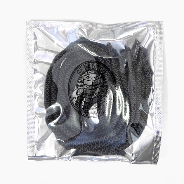 靴紐 ゲタバコ GETABACO シューレース ROPE LACES SHADOW 正規取扱店 ロープレース シャドー ◆高品質 スニーカー 120cm 日本製 黒カーキグレー 丸紐 5mm