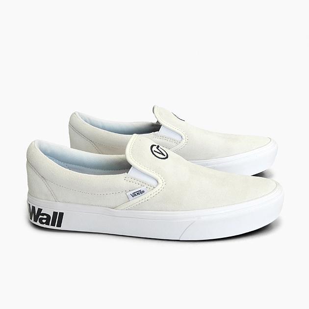 バンズスリッポンコンフィークシュスリップオン VANS COMFYCUSH SLIP ON (DISTORT)BLANCBLACK VN0A3WMDVX7 men gap Dis sneakers suede white V logo latest present
